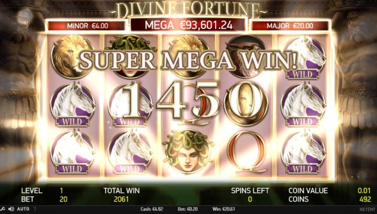 Divine fortune pokie Netent