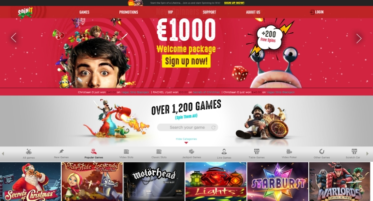 Spinit Casino Review 2018 - €1000 Welcome package